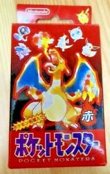 Pokemon Playing Cards Poker Deck Red Charizard 1995 Plastic Factory Sealed