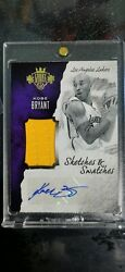 2016 Panini Court Kings Sketches And Swatches Kobe Bryant Autograph /60