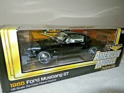 Authentics 1965 Ford Mustang Gt 2+2 Ertl 118 Opening Hood Doors And Trunk, Nice