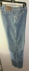 Menand039s Wrangler Blue Jeans Pants Size 46 X 28 Ref Stock 1