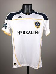 Youth Adidas Climalite L.a. Galaxy White Blank Replica Soccer Jersey Nwt Large
