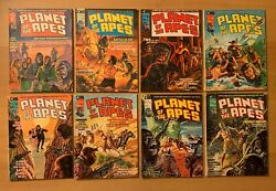 Marvel Planet Of The Apes 8 Comic Magazine Lot 1 2 3 4 5 6 7 8 Curtis 1974