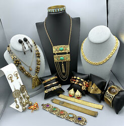 Egyptian Revival Jewelry Lot Monet Sara Cov Unbranded Nice Mix