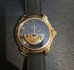 Nicolet 1886 Men's Skeleton Automatic Watch Limited Edition Swiss Made Rose Gold