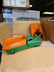 Vtg 1950and039s Marx Toys Tin Litho Pressed Steel Sand And Gravel Truck Nos