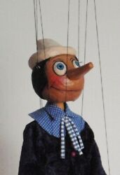 Pinocchio - Wooden Marionette, 19 Inches Tall, Handmade From Czech Republic