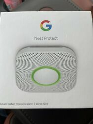 Google Nest Protect Wired Smoke And Carbon Monoxide Alarm White 2nd Generation