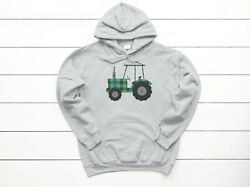 Tractor Hoodie, Plaid Tractor, Unisex, Youth And Adult Sizes, Farmer Sweatshirt