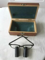 Designs For Vision Dental Surgical Telescopes Loupes Vintage Glasses W/wood Box