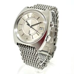 Omega 166.072 Antique Date Seamaster Memomatic Automatic Watch Ss Menand039s Silver