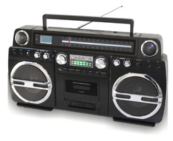 Techplay Monster B 1980s-style Boombox/cd/cassette Am/fm Rechargeable Black