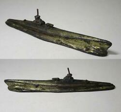 Antique Submarine Paperweight Ship Calligraphy Tool Vintage Japan
