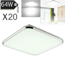 20x 64w Led Ceiling Light Ultra Thin Cool White Flush Mount Kitchen Fixtures