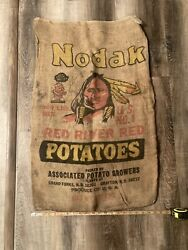 Grand Forks, Grafton, Nd 100lbs Potato Sack, Red River Valley, Native American