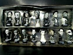 Vtg Universal Monsters Sideshow Silver Screen Edition Little Big Heads 15pcs
