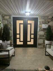 Federal Double Front Entry Iron Door | 61.5 X 80 | Right Hand | Inswing Black