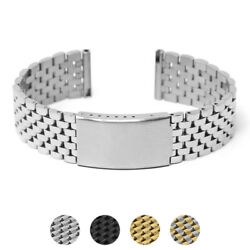 Strapsco 18mm Vintage Stainless Steel Beads Of Rice Smart Watch Bracelet Band