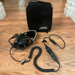 Bose Aviation Headset Ahx-32-04 In Case Noise Canceling Helicopter