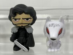 Funko Mystery Mini Jon Snow And Dire Wolf Ghost Game Of Thrones Series 1