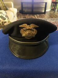 Vintage Obsolete Early Police Hat / Cap Badges Chief State Of Texas
