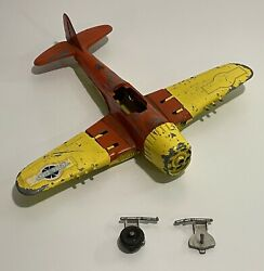 Navy Fighter Bomber Hubley Diecast 495 Incomplete Kiddie Toy Usa Circus Yellow