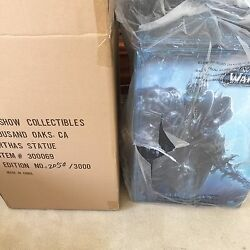Rare Wow Lich King Statue Arthas Polystone Statue By Sideshow Sealed Sold Out