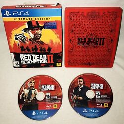 Sony Playstation 4 Ps4 Red Dead Redemption 2 Ultimate Edition Rockstar Steelbook