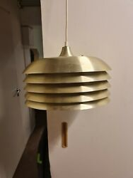 Hans Agne Jakobsson Pendent Roof Lamp Brass Vintage Collectible T-742