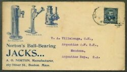 Ma To Argentina - Jacks For Cars , Etc. - Machine Ad Cover In Blue - 1900
