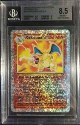 Pokemon Card Charizard Holo Reverse Legendary Collection Bgs 8.5 Nm / Mint +