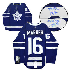 Mitch Marner Toronto Maple Leafs Signed And Noted 94 Point Adidas Jersey