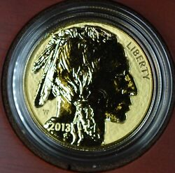 2013-w 1ozt Reverse Proof Gold American Buffalo Coin Ogp And Coa •6721•