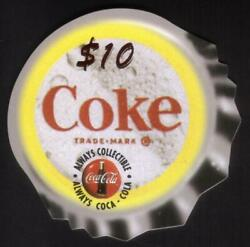 Coca-cola And03995 10. Die-cut Coke Bottle Caps Set Of 3 Different Phone Card