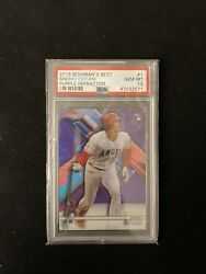 2018 Bowmanand039s Best 1 Shohei Ohtani Rc Rookie Purple Refractor Psa 10 Angels