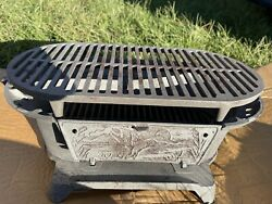 Sportsmans Cast Iron Hibachi Grill Bbq Outdoors Portable Made In Usa