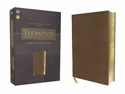 Nasb 1977 Thompson Chain-reference Bible-brown Leathersoft