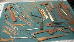 Lot Of Old Hand Tools Decor Farm Vintage Rustic