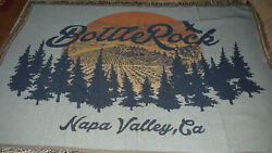 Bottlerock Napa Valley Ca Woven Tapestry Throw Blanket Wall Hanging Large