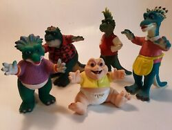 Lot Of 5 Vintage Disney Sinclair Family Dinosaurs Tv Show Toy Figurines