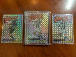 Lot Of 4 Cristiano Ronaldo, Lionel Messi Kaboom Stickers And Roger Federer Psa 10