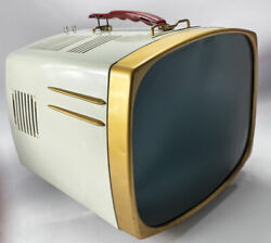 Vintage Midcentury Rca Victor Deluxe Tv 17-pd-8094 Portable 17 Tube Television
