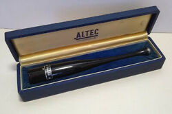 Vintage Altec Lansing 150a Coke Bottle Microphone Base And 21b Capsule Mic In Case