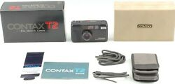 Rare [top Mint In Box] Contax T2 Limited Black 35mm Film Camera From Japan