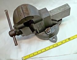 Parker No. 973-1/2 Swivel Bench Vise, 3-1/2 Wide Jaws Opens To 4-1/2, Usa