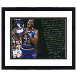Magic Johnson 1992 Allstar Mvp Autographed Picture With Story Inscription