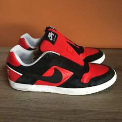 Nike Sb Delta Force Vulc Bred Banned Shoes Black Red 942237-006 Us Size 10