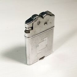 Vintage Automatic Petrol Lighter Thorens Oriflame Swiss Made Silver Rare