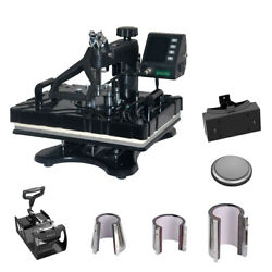 8 In 1 Heat Press Machine 12x15 Combo Kit Transfer Sublimation T-shirts New