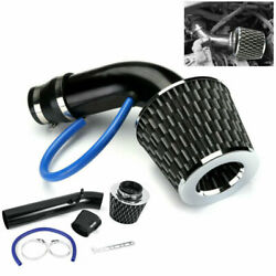 Carbon Fiber Car Cold Air Intake Filter Induction Pipe Power Flow Hose System