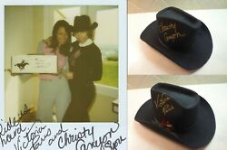 Christy Canyon And Victoria Paris Stage Used Signed Hat W/proof Pic